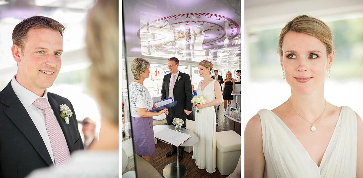 Authentische Hochzeitsreportage-Fotos bei Hochzeit auf Spreeschiff in Berlin-Mitte © Hochzeitsfotograf Berlin www.hochzeitslicht.de