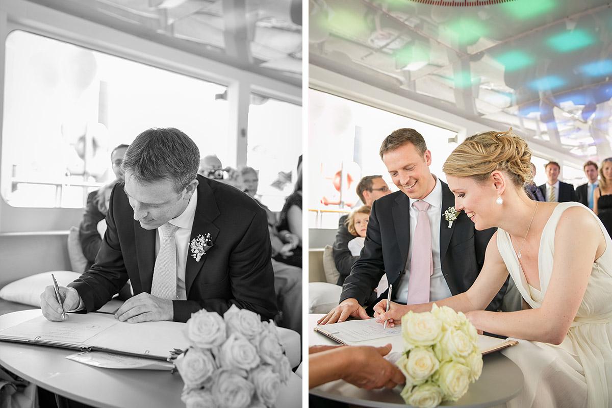 Hochzeitsfotos auf Spreeschiff bei eleganter Berlin-Mitte-Hochzeit © Hochzeitsfotograf Berlin www.hochzeitslicht.de