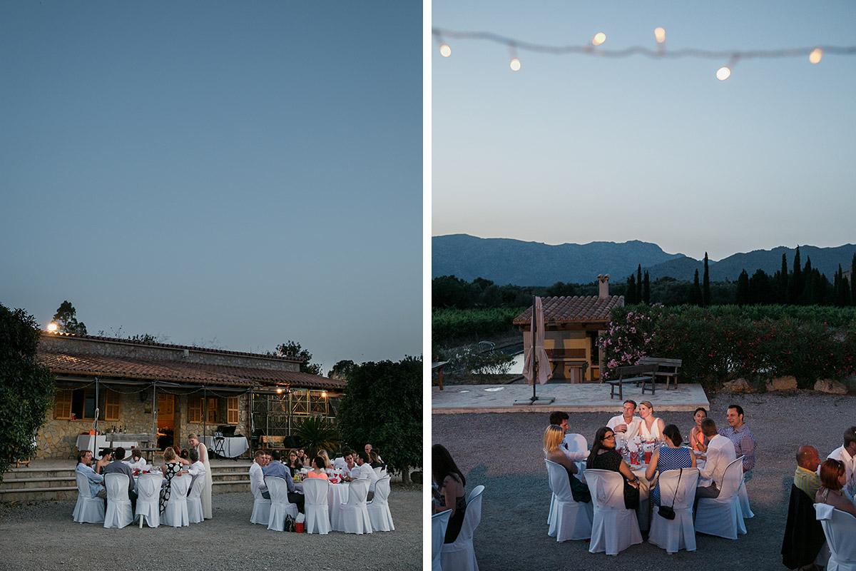 Hochzeitsfotos von Feier am Abend aufgenommen von Hochzeitsfotograf auf Mallorca © Hochzeitsfotograf Berlin www.hochzeitslicht.de