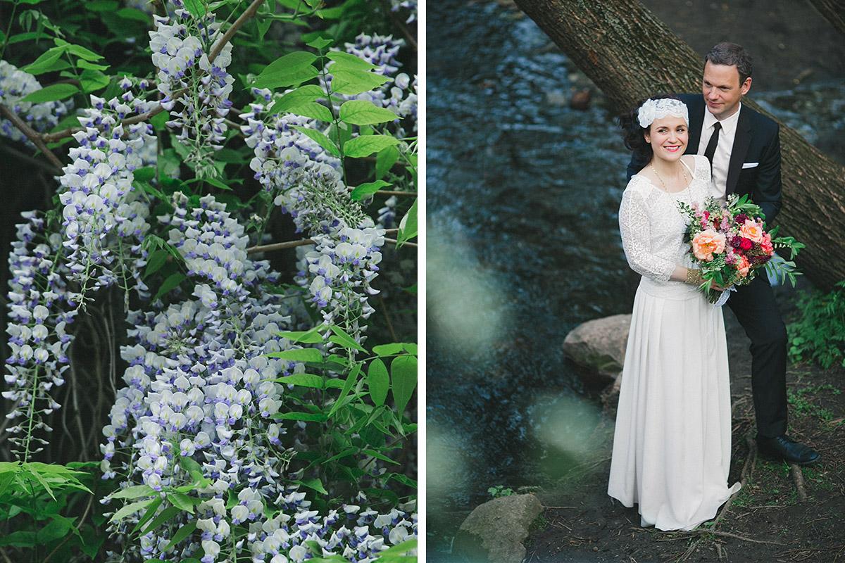 Brautpaarfoto bei Boho-Hochzeit in Berlin © Hochzeitsfotograf Berlin www.hochzeitslicht.de
