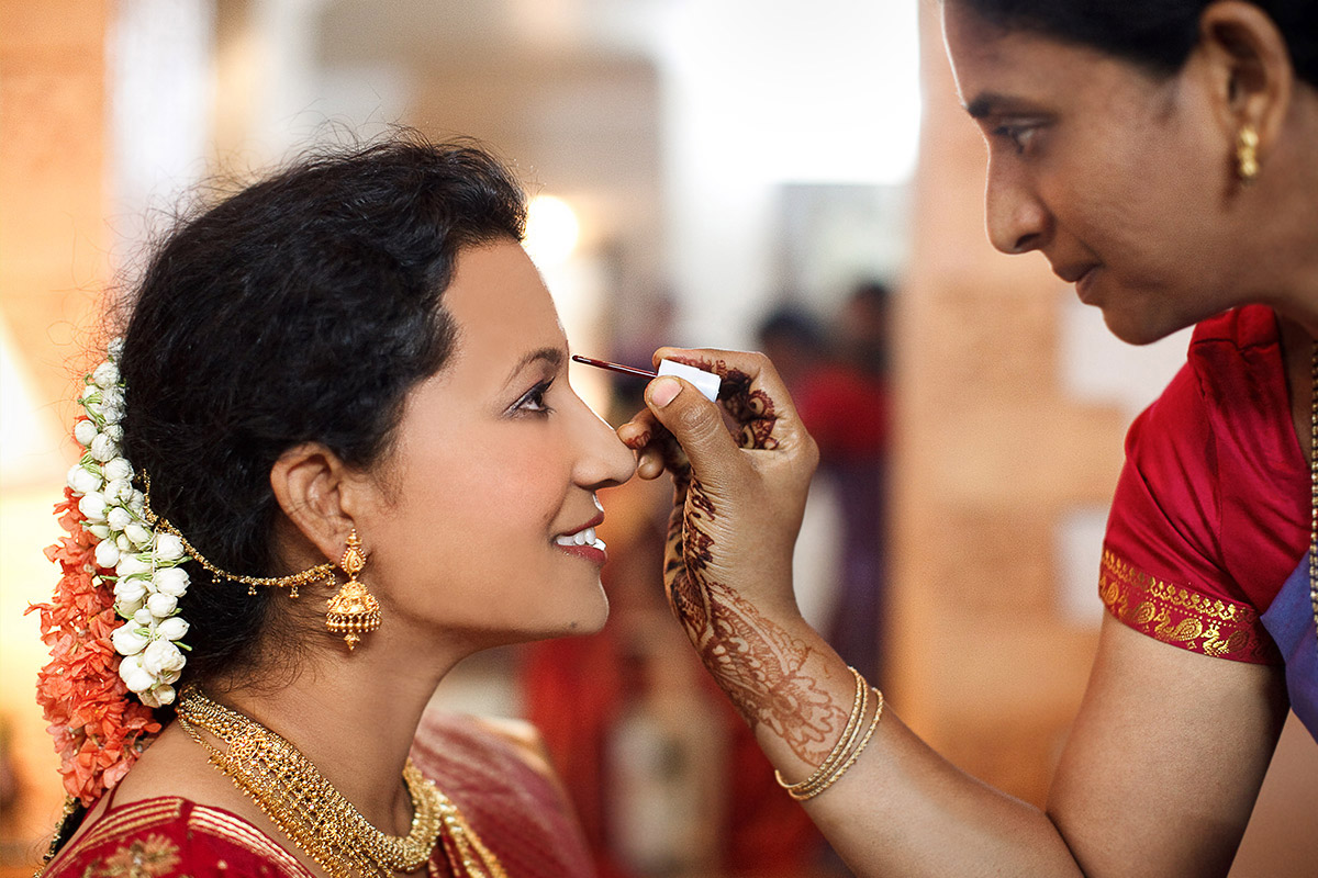 Hochzeitsfotos von Braut bei Hochzeit in Indien © Hochzeitsfotograf Berlin hochzeitslicht
