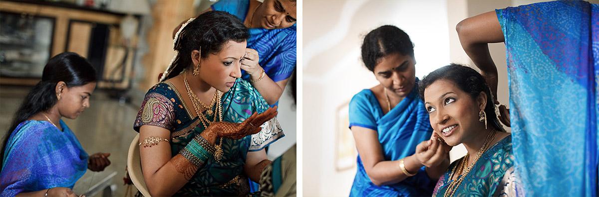 Hochzeitsfotos bei Vorbereitungen der Braut auf Hochzeit in Indien © Hochzeitsfotograf Berlin hochzeitslicht