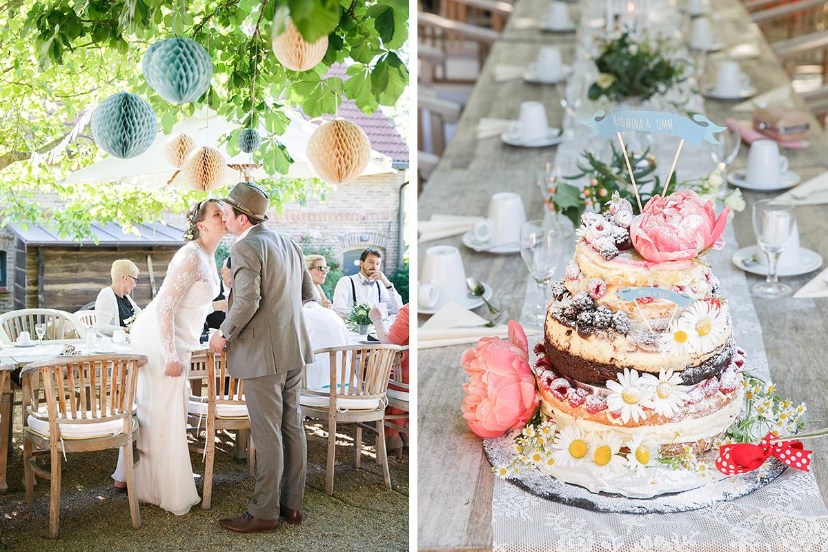 Reportage-Foto bei DIY-Hochzeit im Selfmade Stil und Gruppenfoto bei Spreewald Hochzeit © Hochzeitsfotograf Berlin www.hochzeitslicht.de