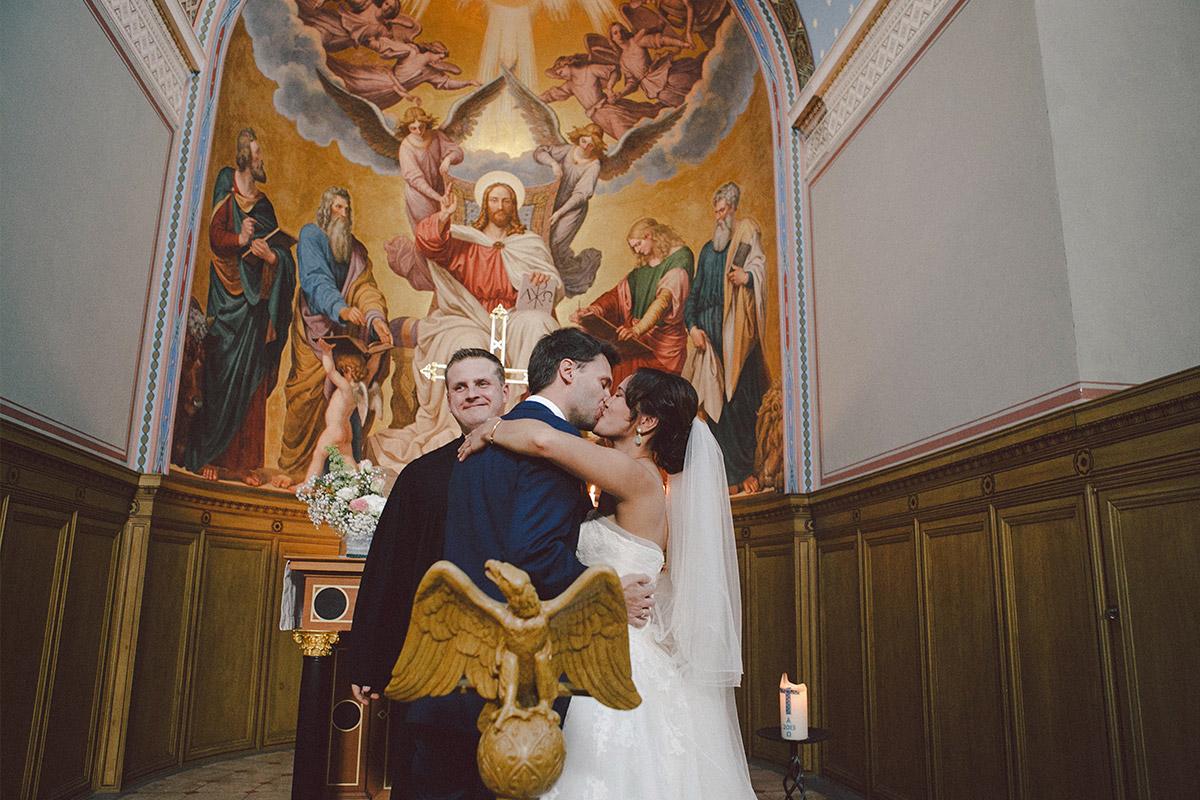Ja-Wort während Trauung in Heilandskirche Sacrow © Hochzeitsfotograf Berlin hochzeitslicht