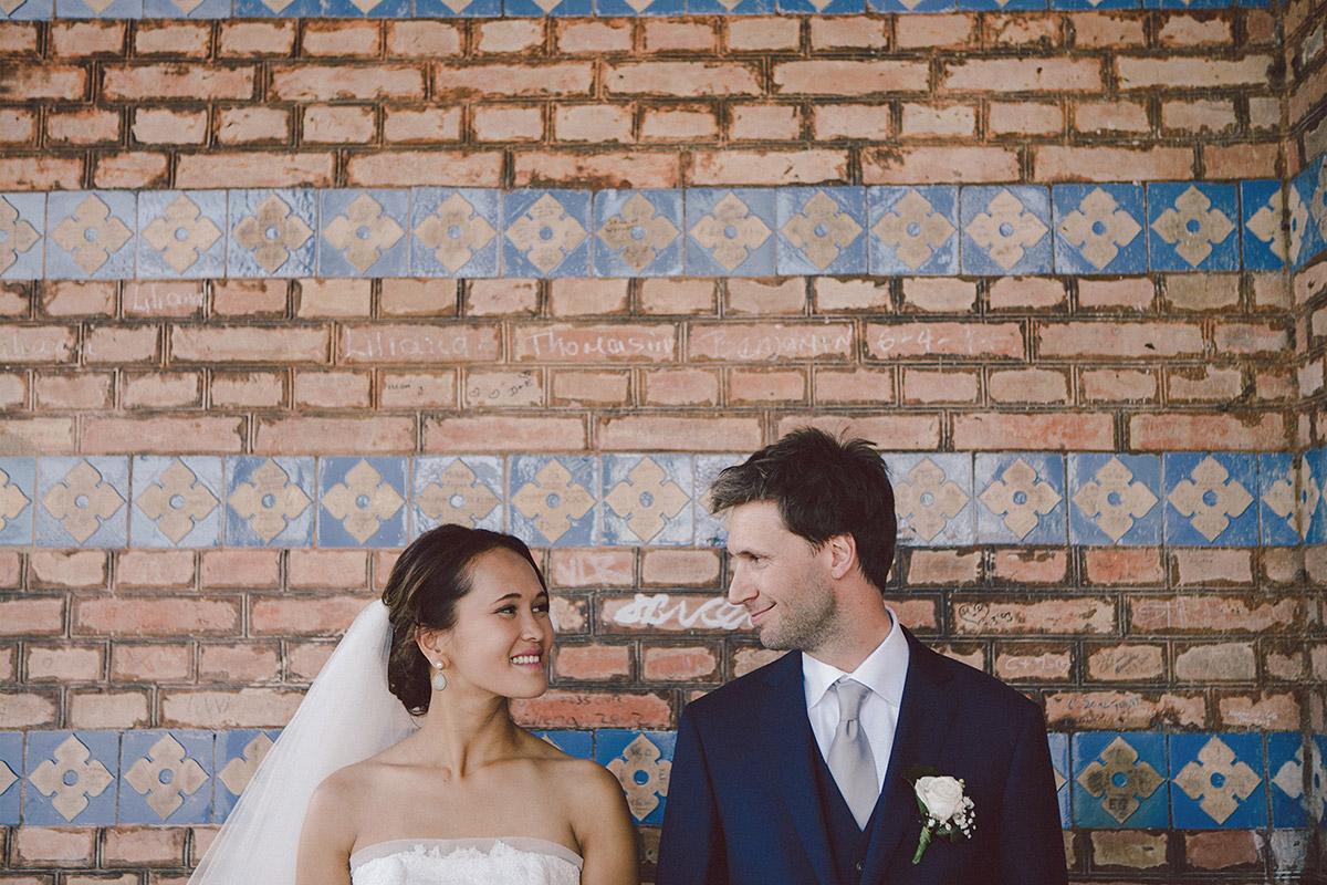 Hochzeitsfoto von Brautpaar in Heilandskirche Sacrow Potsdam © Hochzeitsfotograf Berlin www.hochzeitslicht.de