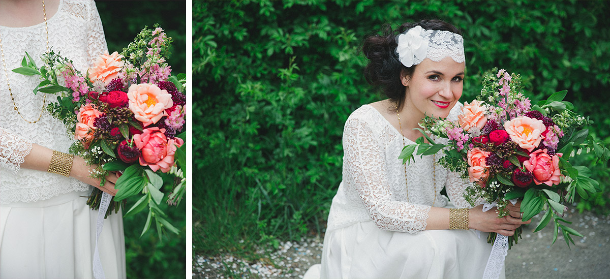 Hochzeitsportrait der Braut bei Boho-Hochzeit in Fabrik 23 Berlin © Hochzeitsfotograf Berlin www.hochzeitslicht.de