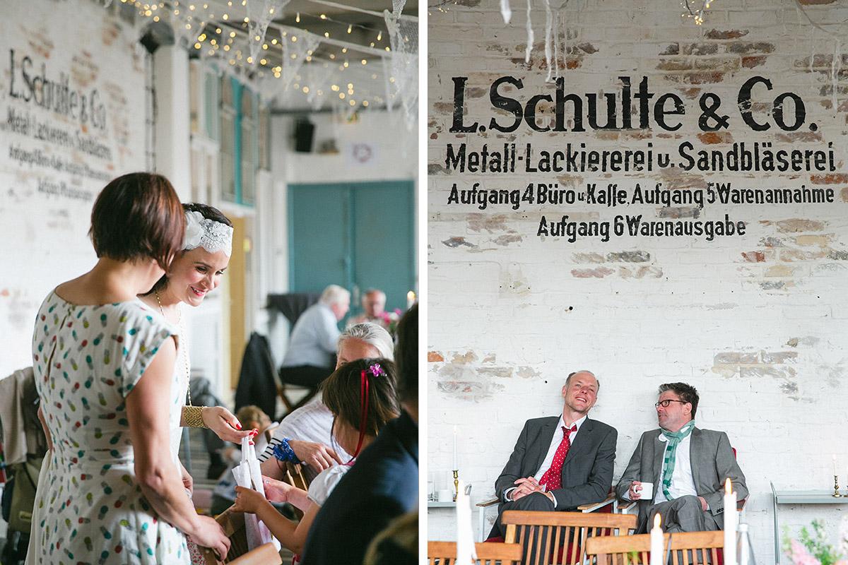 Hochzeitsfoto von Hochzeitsfeier in Werkloft Fabrik 23 Berlin © Hochzeitsfotograf Berlin www.hochzeitslicht.de
