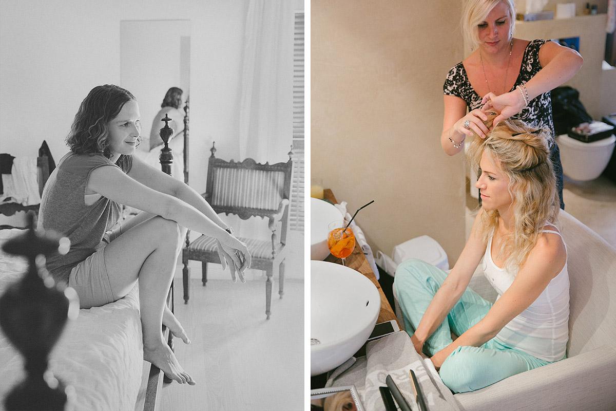 Hochzeitsvorbereitungen dokumentiert von Hochzeitsfotografen auf Mallorca © Hochzeitsfotograf Berlin hochzeitslicht