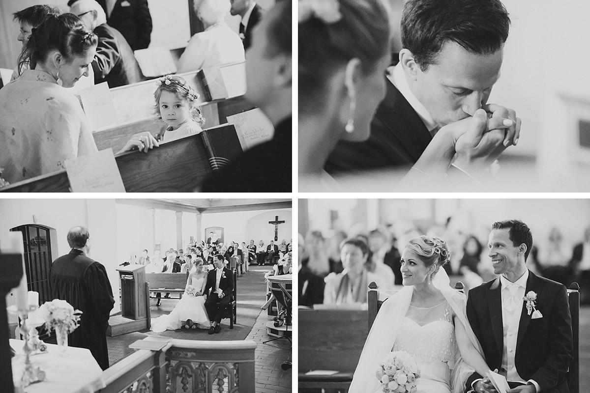 Hochzeitsreportage-Fotos während kirchlicher Trauung in Dorfkirche Britz aufgenommen von professioneller Hochzeitsfotografin Berlin © Hochzeitsfotograf Berlin www.hochzeitslicht.de