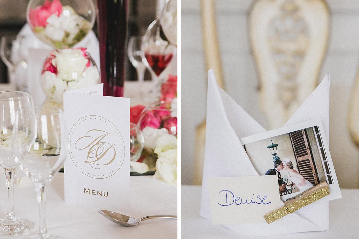 Tischdekoration nach elegantem Hochzeitskonzept bei vintage Schlosshochzeit auf Schloss Herzfelde © Hochzeitsfotograf Berlin www.hochzeitslicht.de