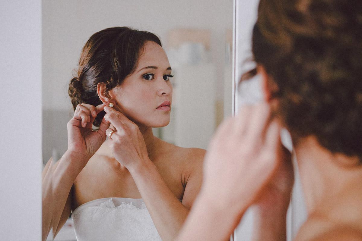 Hochzeitsreportage-Foto der Braut aufgenommen von professioneller Hochzeitsfotografin in Potsdam © Hochzeitsfotograf Berlin hochzeitslicht