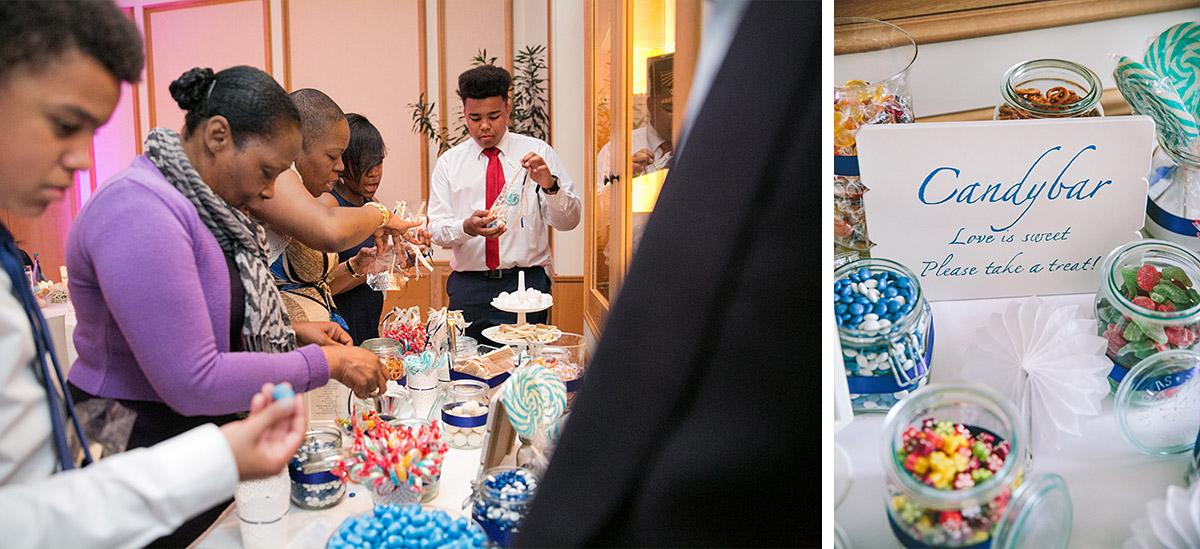 Hochzeitsreportagefotos von Buffet und Candybar bei Hochzeit auf Schloss Liebenberg © Hochzeitsfotograf Berlin www.hochzeitslicht.de