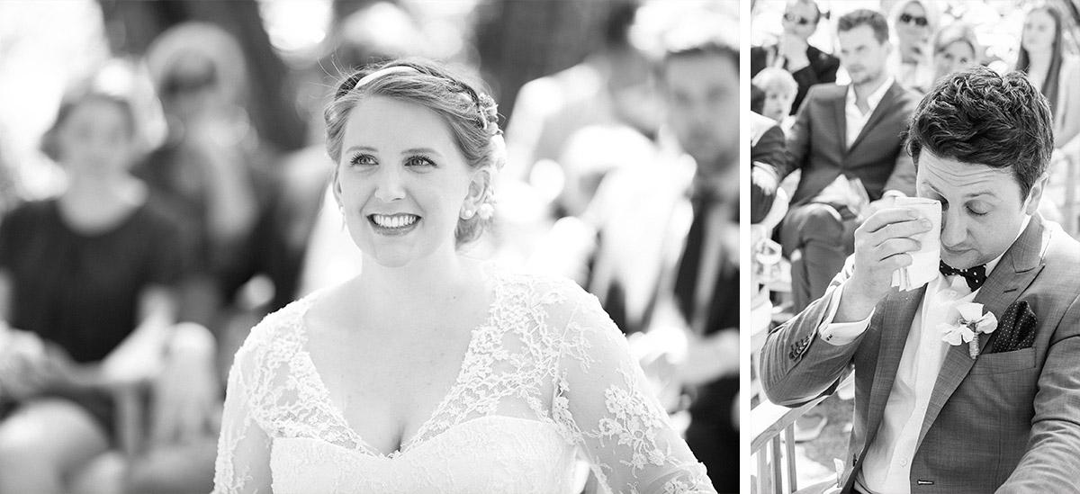 Authentische Hochzeitsreportagefotos von Trauung bei Spreewaldhochzeit im Boho-Stil © Hochzeitsfotograf Berlin www.hochzeitslicht.de