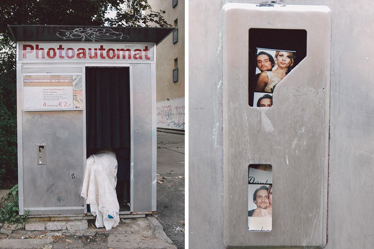 kreative Hochzeitsfotos im Photoautomat von Hochzeitsfotograf Berlin-Friedrichshain © Hochzeitsfotograf Berlin www.hochzeitslicht.de