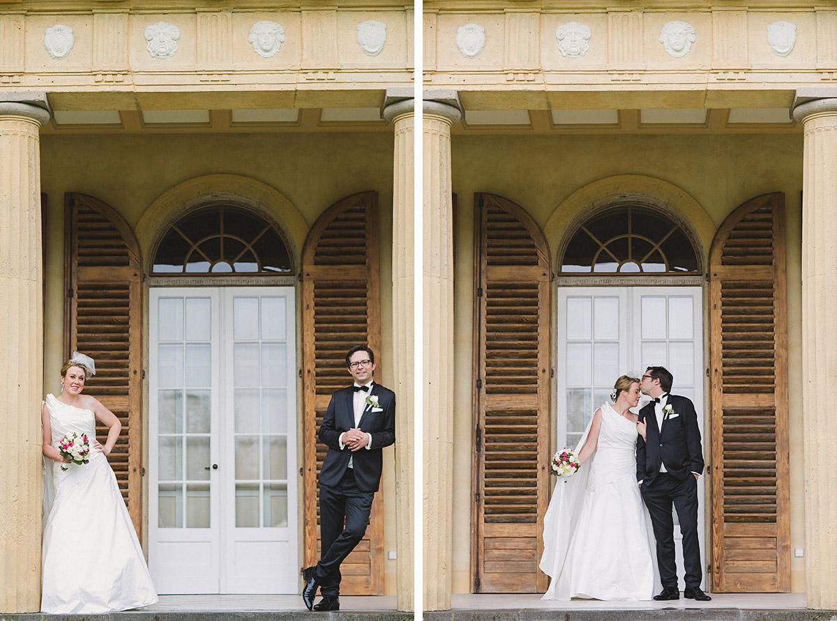 Brautpaarfoto bei Vintage-Hochzeit auf Schloss Herzfelde © Hochzeitsfotograf Berlin www.hochzeitslicht.de