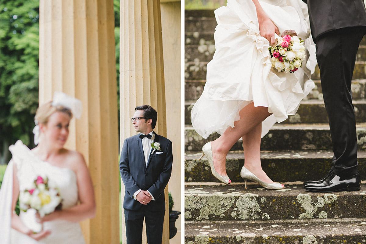 Hochzeitsfotografien von Brautpaar bei Schlosshochzeit auf Schloss Herzfelde © Hochzeitsfotograf Berlin www.hochzeitslicht.de
