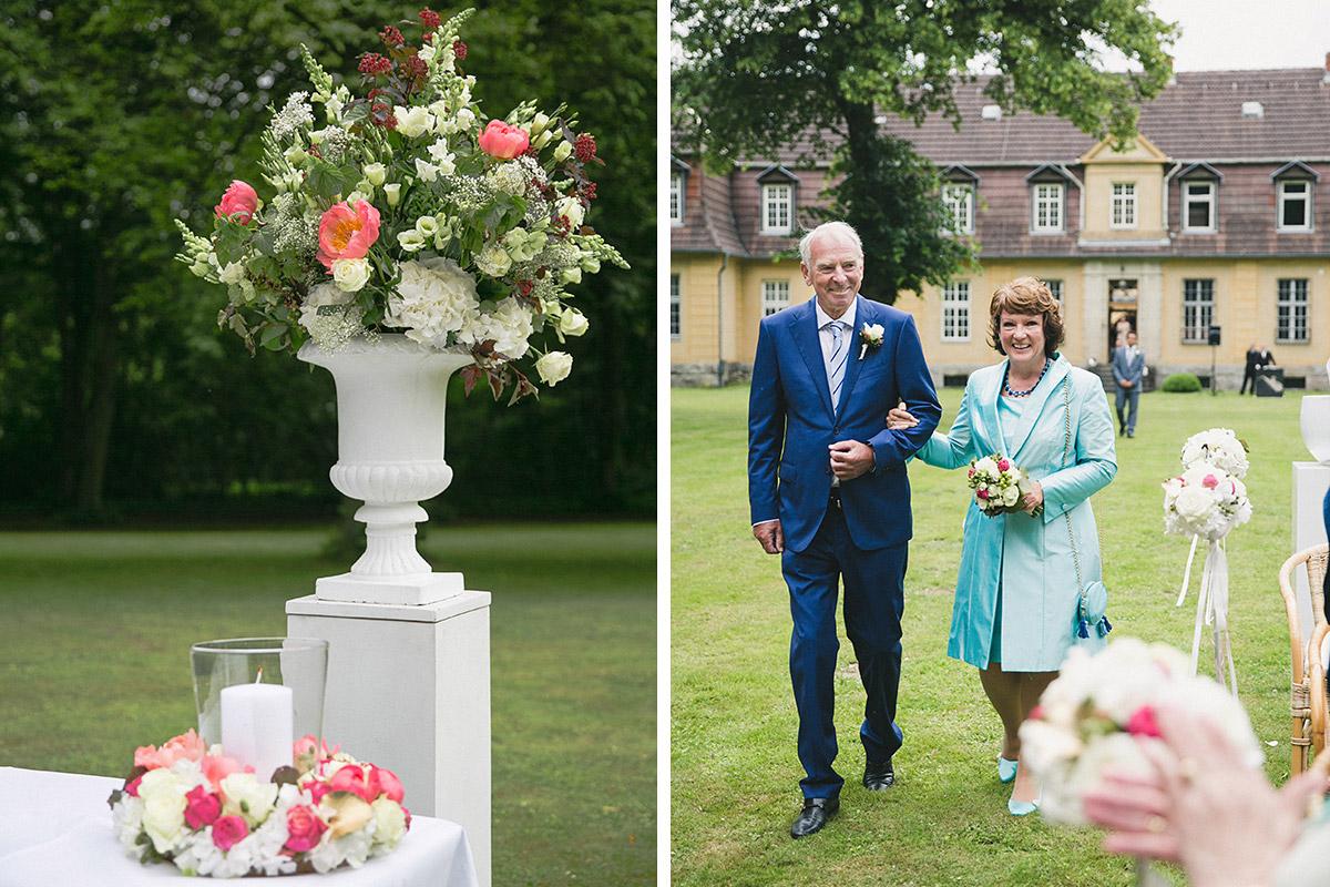 Hochzeitsreportage bei eleganter Hochzeit auf Schloss Herzfelde © Hochzeitsfotograf Berlin www.hochzeitslicht.de