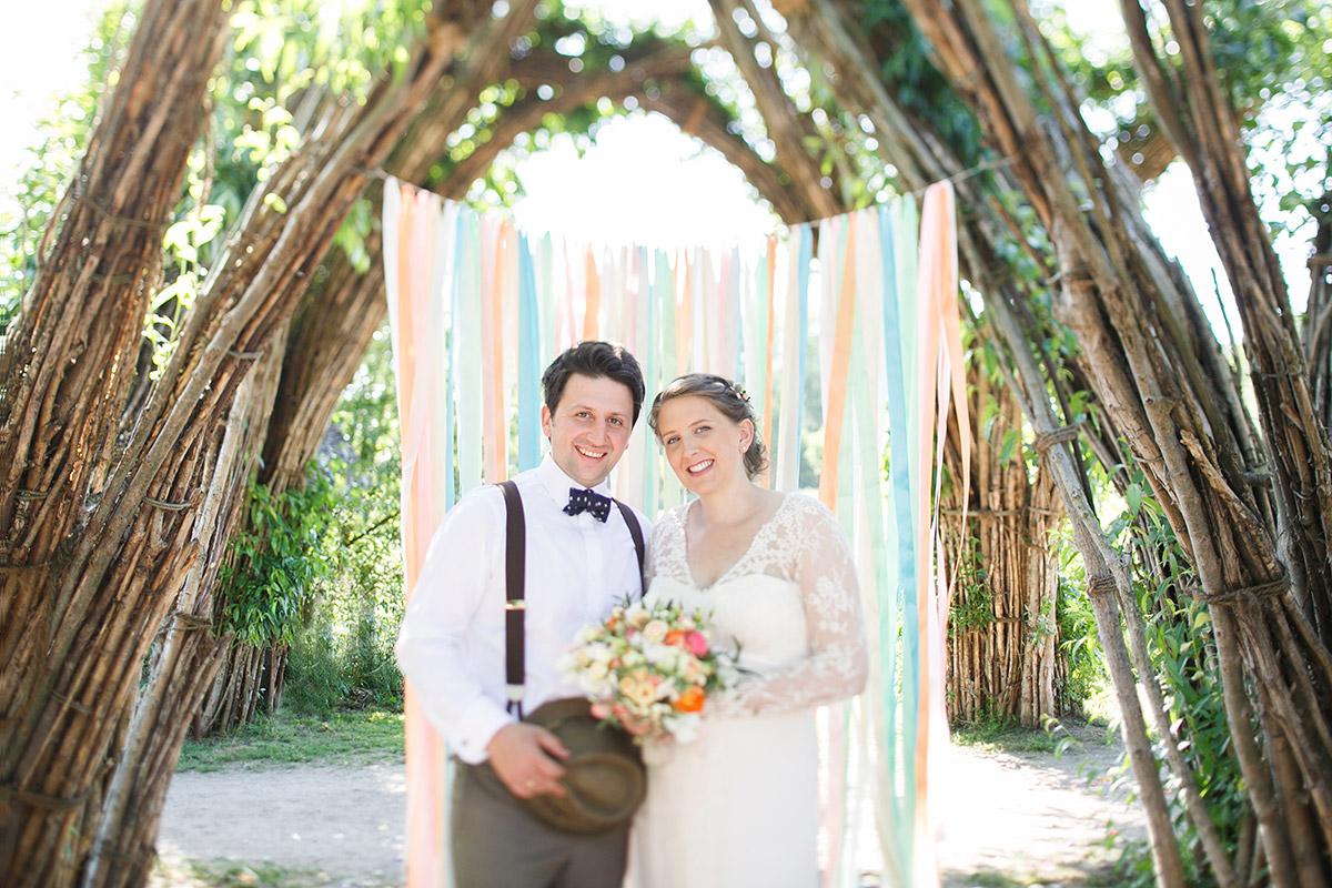Hochzeitsfoto von DIY-Hochzeit im Weidendom vom Spreewaldresort ...