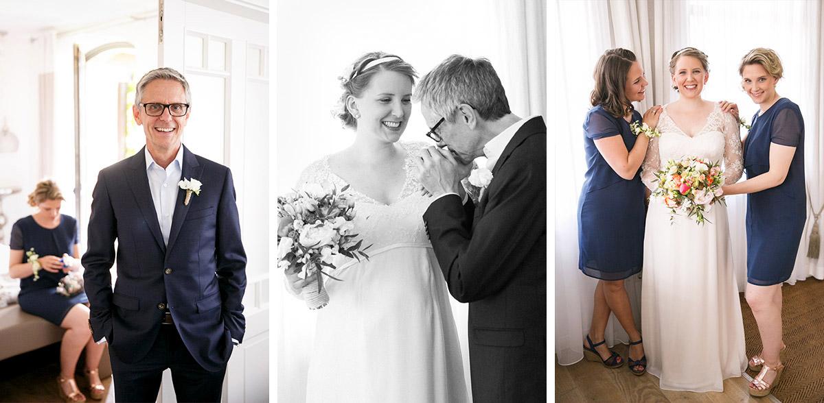 """Hochzeitsfoto von Braut mit Brautvater bei Spreewaldhochzeit in Spreewaldresort """"Seinerzeit"""", Schlepzig © Hochzeitsfotograf Berlin www.hochzeitslicht.de"""
