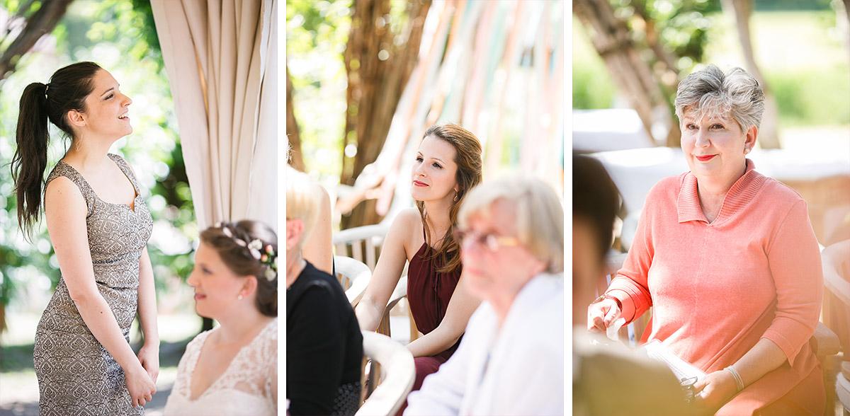 """Hochzeitsfotos von Gästen bei standesamtlicher Trauung im Weidendom des Spreewaldresort """"Seinerzeit"""", Schlepzig© Hochzeitsfotograf Berlin www.hochzeitslicht.de"""