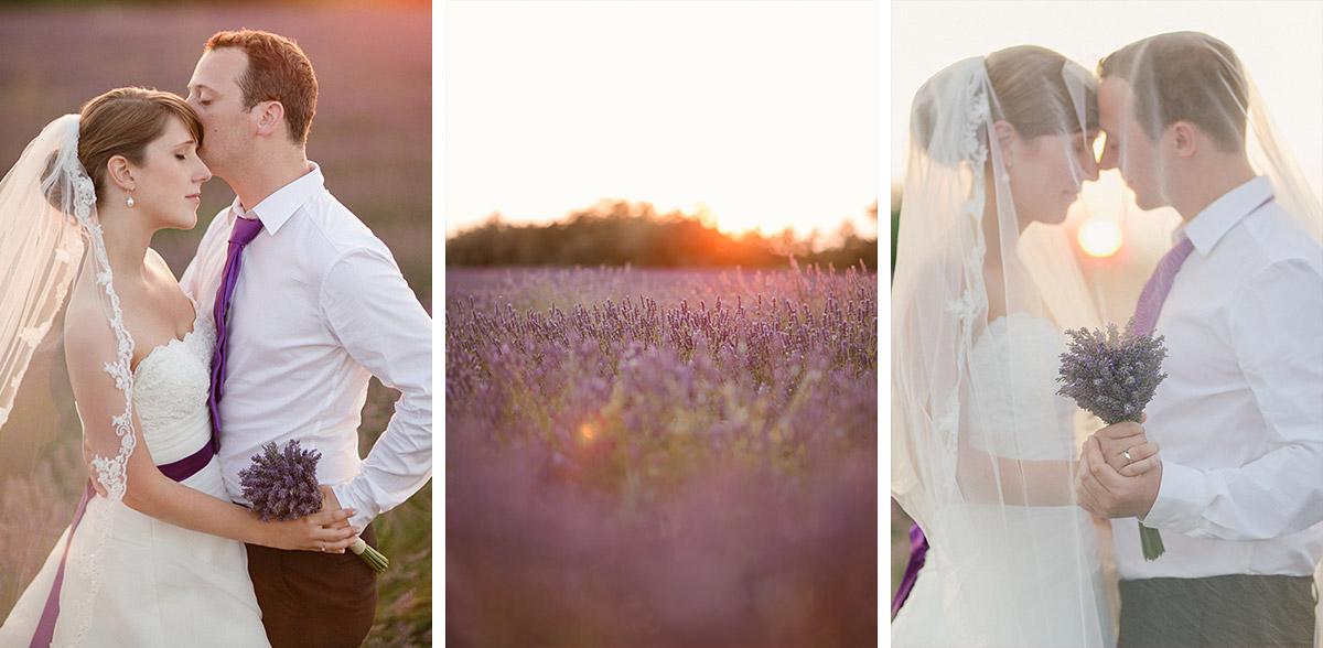 Portrait-Fotos von Brautpaar bei After-Wedding-Fotoshooting in Lavendelfeld, Provence aufgenommen von Berliner Hochzeitsfotografinn © Hochzeitsfotograf Berlin hochzeitslicht