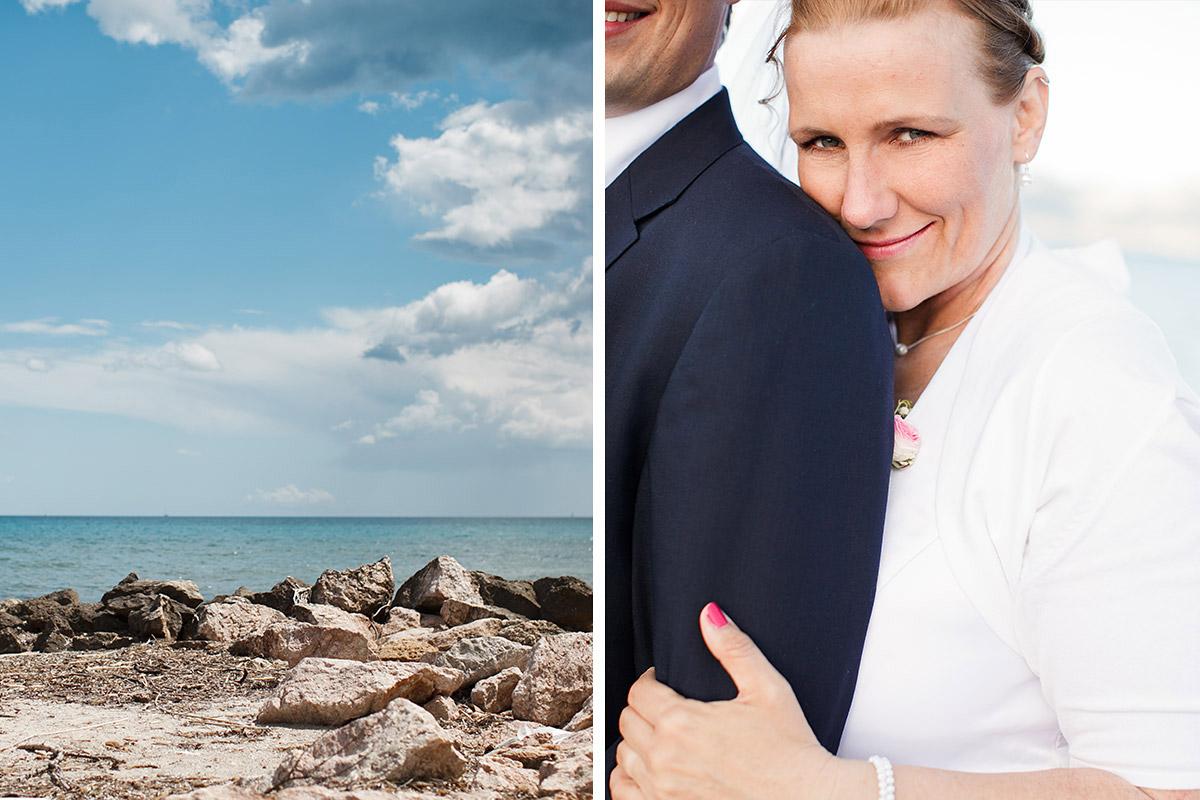Hochzeitsfotografie von Brautpaar an Küste von Mallorca © Hochzeitsfotograf Berlin hochzeitslicht