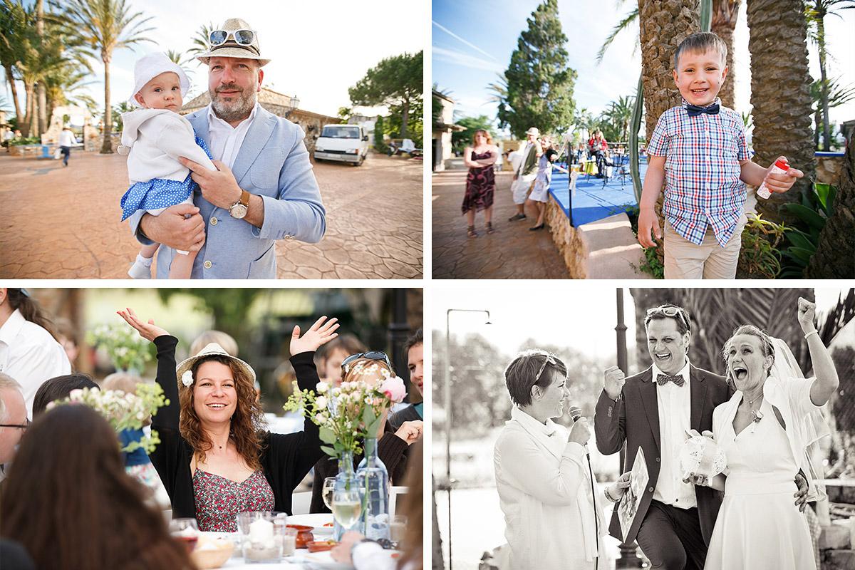 Hochzeitsreportagefotos von Gästen auf Mallorca © Hochzeitsfotograf Berlin hochzeitslicht