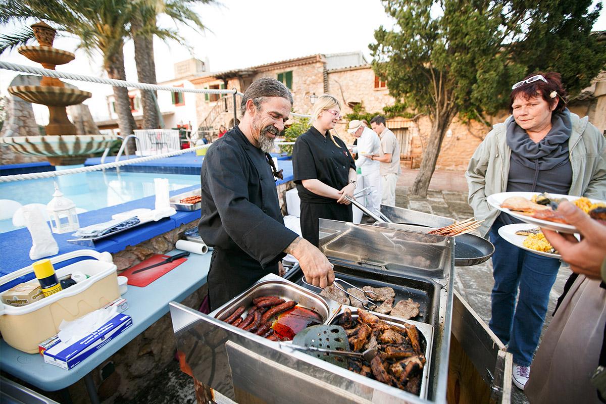 Foto vom Buffet, Catering bei Hochzeit auf Mallorca © Hochzeitsfotograf Berlin hochzeitslicht