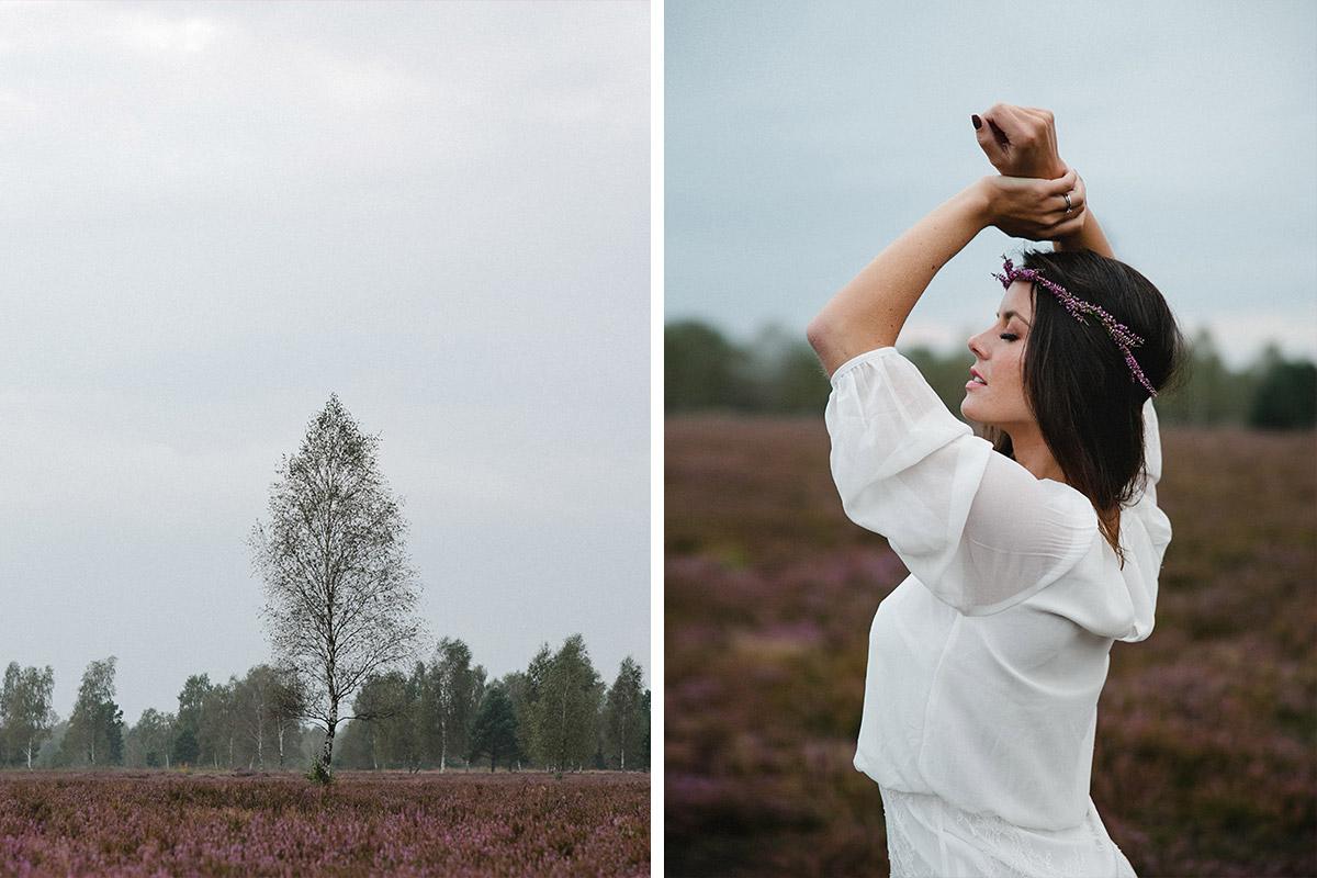 Portraitaufnahme bei outdoor Fotosthooting mit professioneller Berliner Portrait-Fotografin in Heide © Fotostudio Berlin LUMENTIS