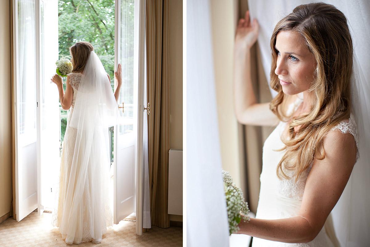 Hochzeitsfotos der Braut bei Hochzeit im Vintage-Look auf Schloss und Gut Liebenberg aufgenommen von Berliner Hochzeitsfotografin © Hochzeitsfotograf Berlin hochzeitslicht