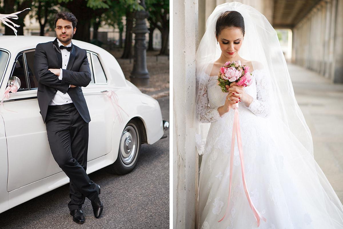 Hochzeitsfotos von Braut und Bräutigam im Vintage-Stil aufgenommen in Berlin © Hochzeitsfotograf Berlin hochzeitslicht