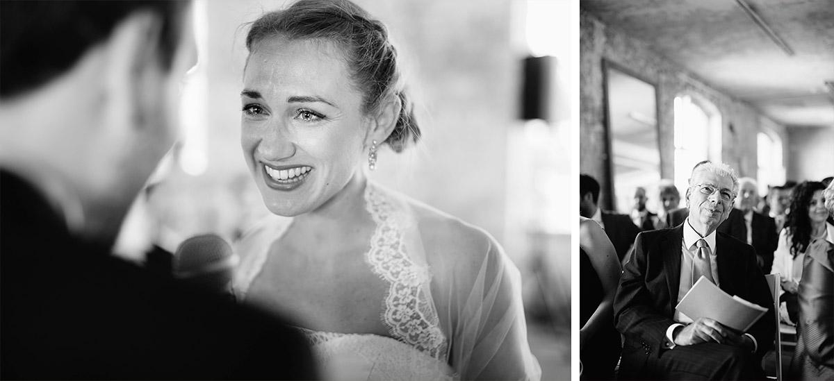 authentische Hochzeitsfotos aufgenommen bei Hochzeitsfotograf bei Trauung in Alter Teppichfabrik in Friedrichshain © Hochzeit Berlin www.hochzeitslicht.de