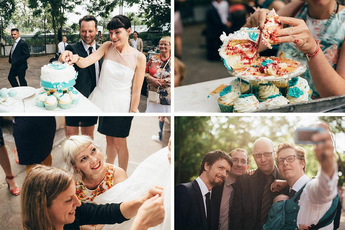 Hochzeitsfotos vom Anschneiden der Hochzeitstorte bei Hochzeit in Alter Teppichfabrik Berlin Friedrichshain © Hochzeit Berlin www.hochzeitslicht.de