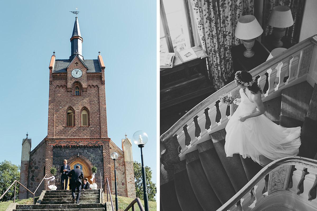 Hochzeitsfotos von Hochzeit in Feldsteinkirche Wulkow in der Nähe von Neuhardenberg © Hochzeitsfotograf Berlin www.hochzeitslicht.de