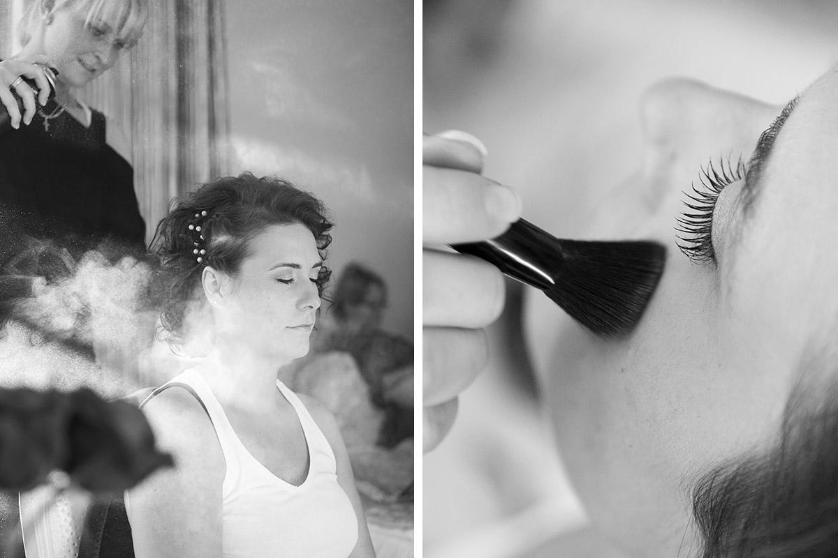 Hochzeitsfotos vom Styling der Braut bei Vintage-Hochzeit im Winter in der Villa Contessa, Bad Saarow © Hochzeitsfotograf Berlin www.hochzeitslicht.de