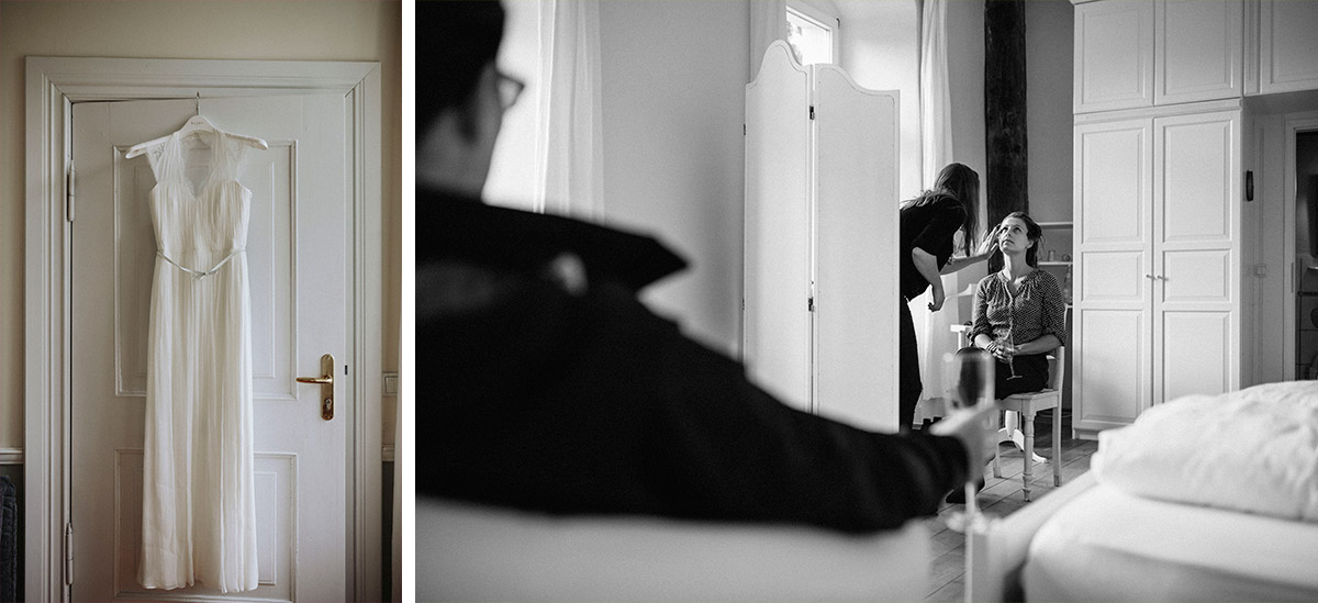 Hochzeitsfotos von Vorbereitungen der Braut aufgenommen von Hochzeitsfotograf bei Schloss Neuhausen Hochzeit Prignitz © Hochzeitsfotograf Berlin www.hochzeitslicht.de