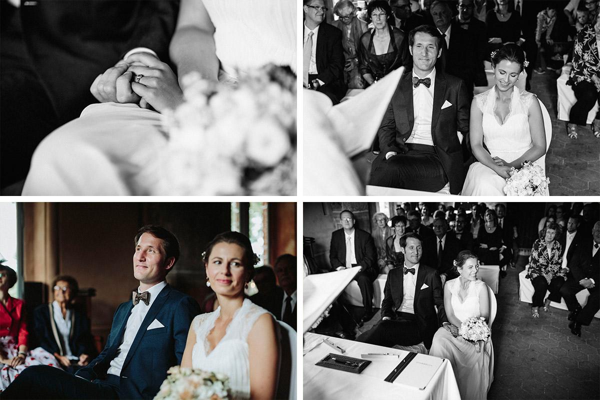 Hochzeitsreportagefoto von Trauung auf Schloss Neuhausen Brandenburg aufgenommen von Berliner Hochzeitsfotograf © Hochzeitsfotograf Berlin www.hochzeitslicht.de