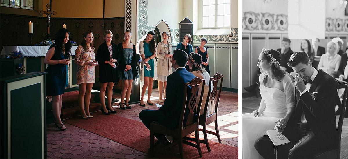 Hochzeitsfotografien während Trauungszeremonie bei Haus Tornow am See Hochzeit © Hochzeitsfotograf Berlin www.hochzeitslicht.de