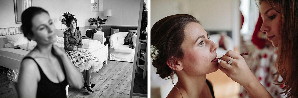 professionelle Hochzeitsreportage-Fotos vom Styling der Braut bei Vintage Hochzeit auf Schloss Neuhausen, Brandenburg © Hochzeitsfotograf Berlin www.hochzeitslicht.de
