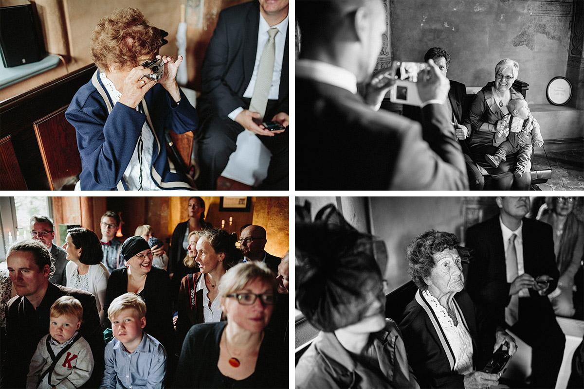 Hochzeitsgäste vor Trauung bei Schloss Neuhausen Prignitz Hochzeit © Hochzeitsfotograf Berlin www.hochzeitslicht.de